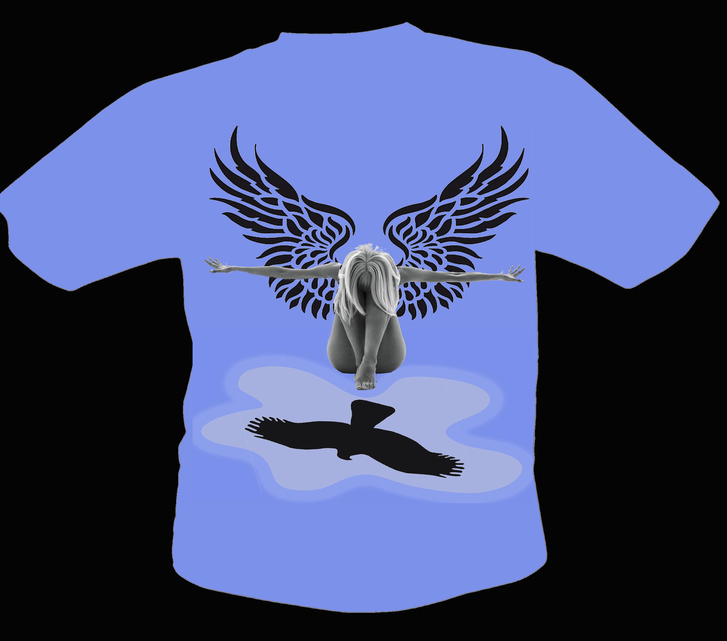 Tričko návrh 2 - žena dravec kopie
